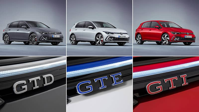 VW Golf GTI, GTE ve GTD